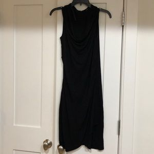 XS Scoop neck Tahari Black stretch dress